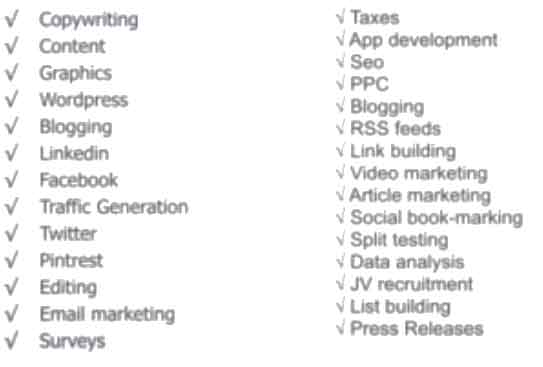 Outsourcing list