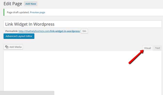 How to add a link widget in wordpress
